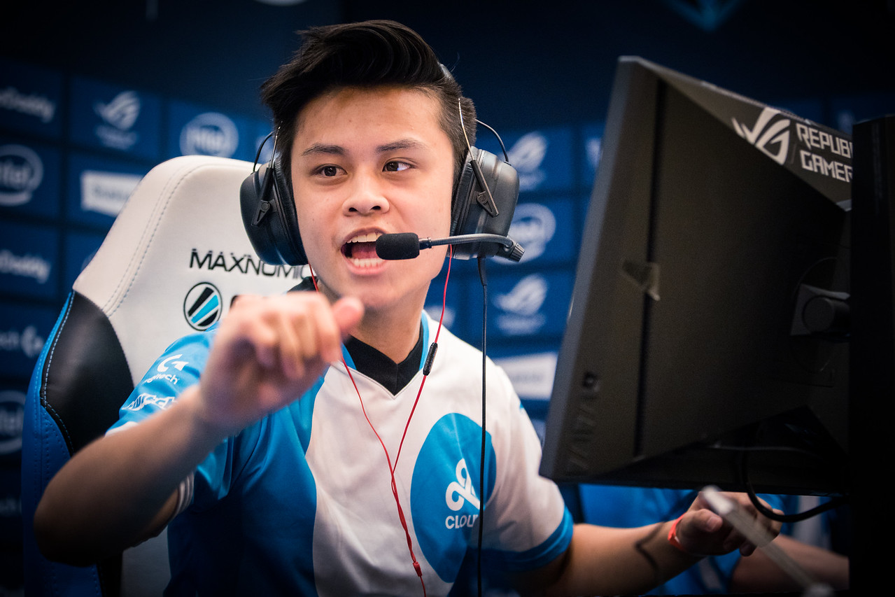 Cloud9's Stewie playing in the group stages