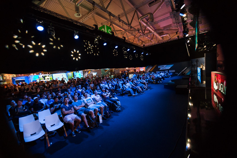 The crowd at ESL Arena for Blade & Soul European Regional Championships at Gamescom 2017