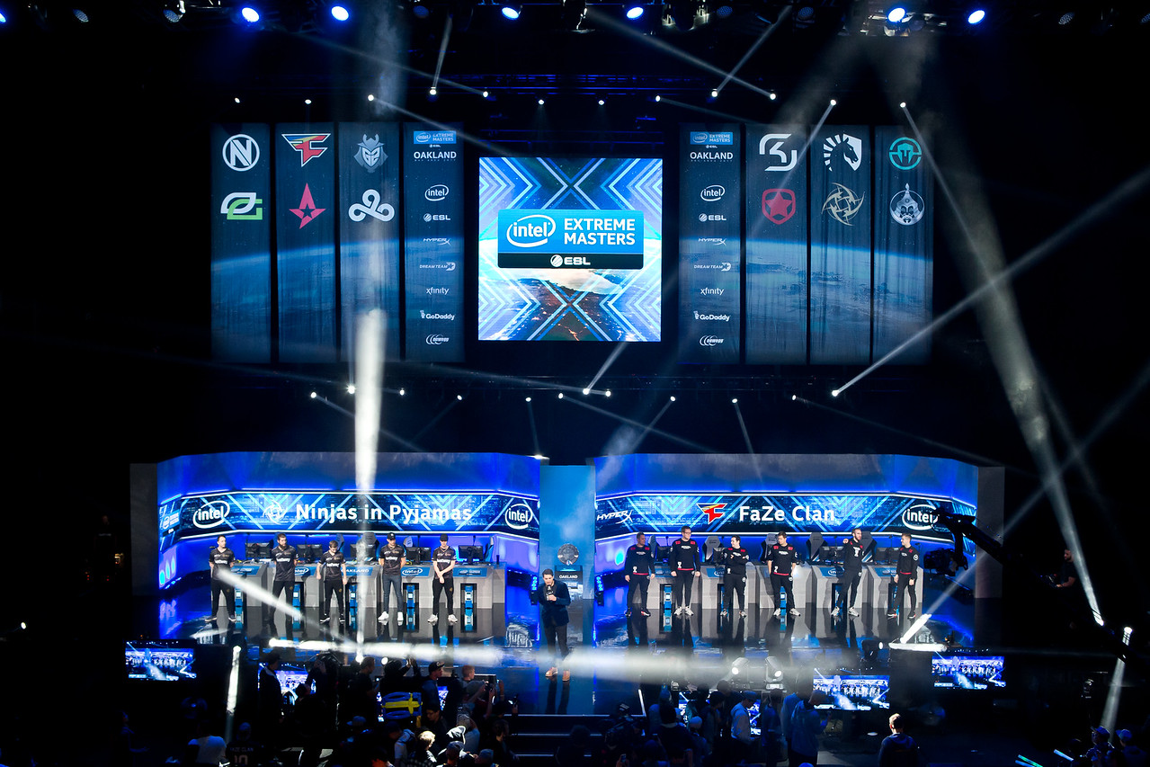 The stage of the Intel Extreme Masters Oakland 2017