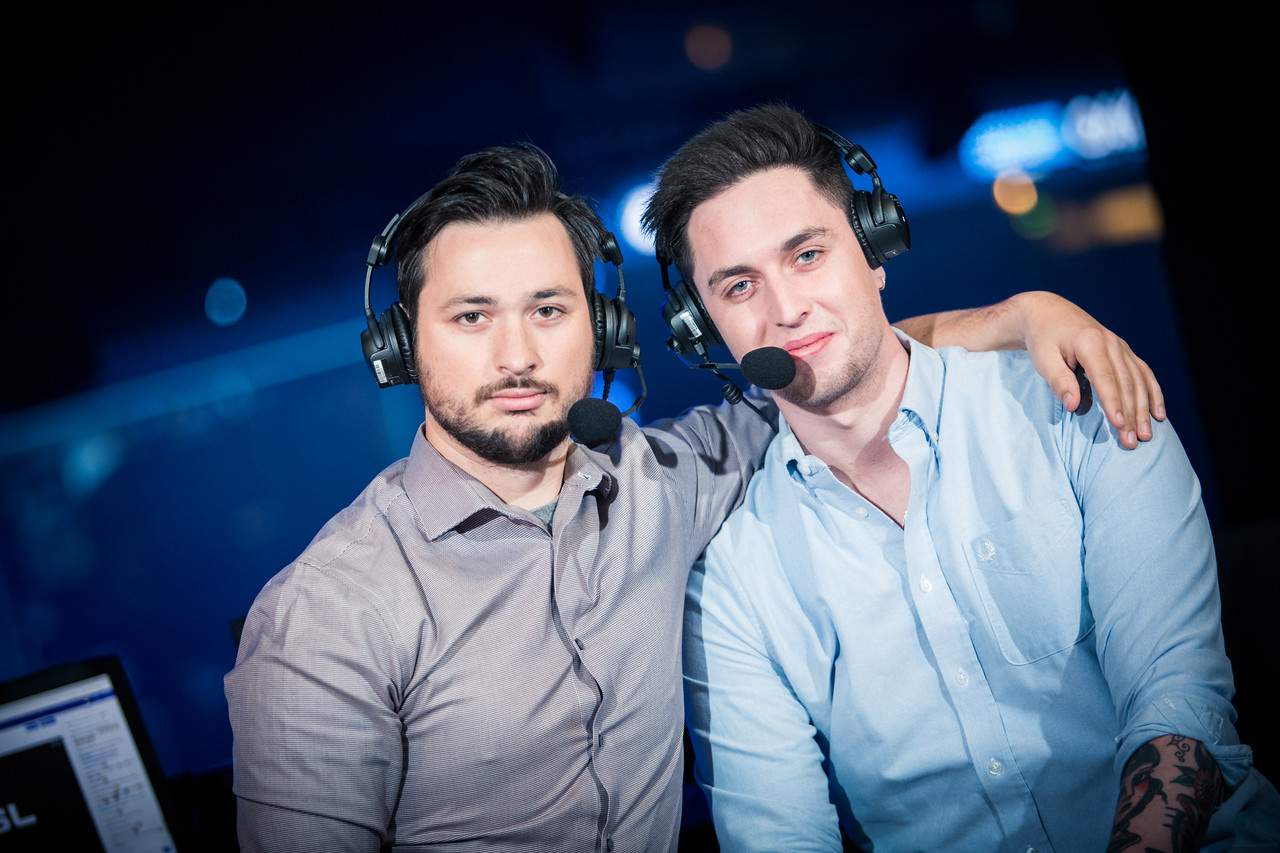 The caster duo Matthew 'Sadokist' Trivett and Henry 'HenryG' Greer