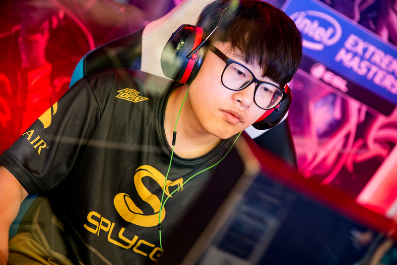 Splyce's Solar playing in the group stages of the Intel Extreme Masters Shanghai 2017