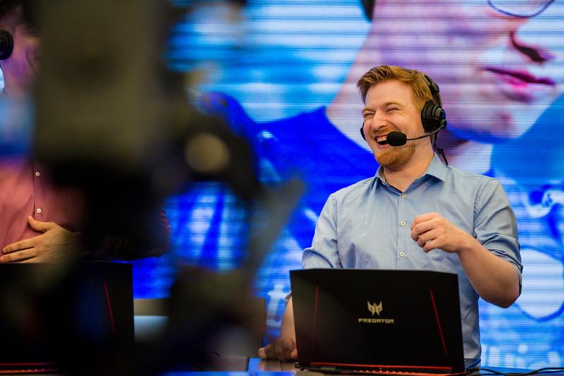 Kaelaris enjoys the action of the Intel Extreme Masters Shanghai 2017