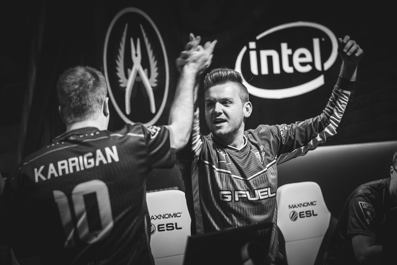 FaZe Niko and FaZe Karrigan celebrate as they move on to the grand finals of Intel Extreme Masters Sydney 2017