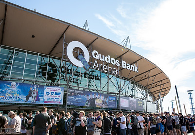 The fans are lining up to enter Qudos Bank Arena for Intel Extreme Masters Sydney 2017