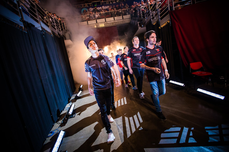 SK Gaming and FaZe Clan enter the stadium before the grand finals of Intel Extreme Masters Sydney 2017