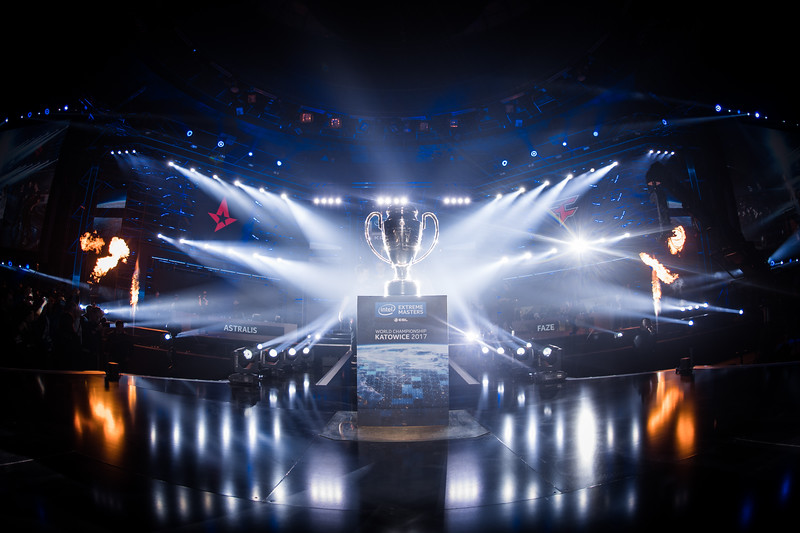 The trophy of the Intel Extreme Masters World Championships Katowice 2017
