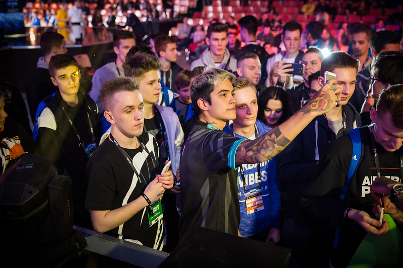 Immortals Fnx interacting with fans in front of the stage