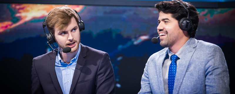 Drakos and Crumbzz analysing the matches in Spodek, Poland, for Intel Extreme Masters World Championships 2017