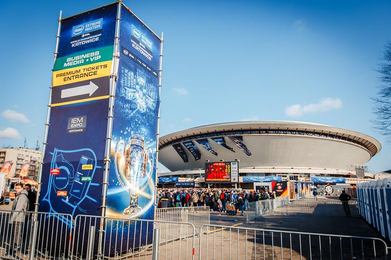 Queue in front of the Spodek Arena, Katowice