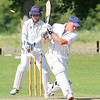 MDEP-06-08-2016-004 Worlington v Frinton on Sea Cricket. Nathan Twiddy is bowled by Russell Stockdale (Frinton) Bury Free Press