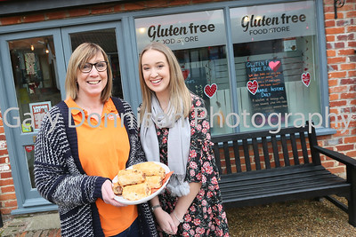 MDEP-10-02-2018-003 Kirsty & Chloe Howard show of their self produced food at the Gluten free Food Store
