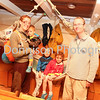 The Rittman Family try life aboard ship. Picture by Gary Donnison
