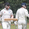Ipswich batsmen Chris Norton and Capt Joe Rusby watch the ball go for Four at Clay Hall. Picture GARY DONNISON Two Counties Cricket East Bergholt