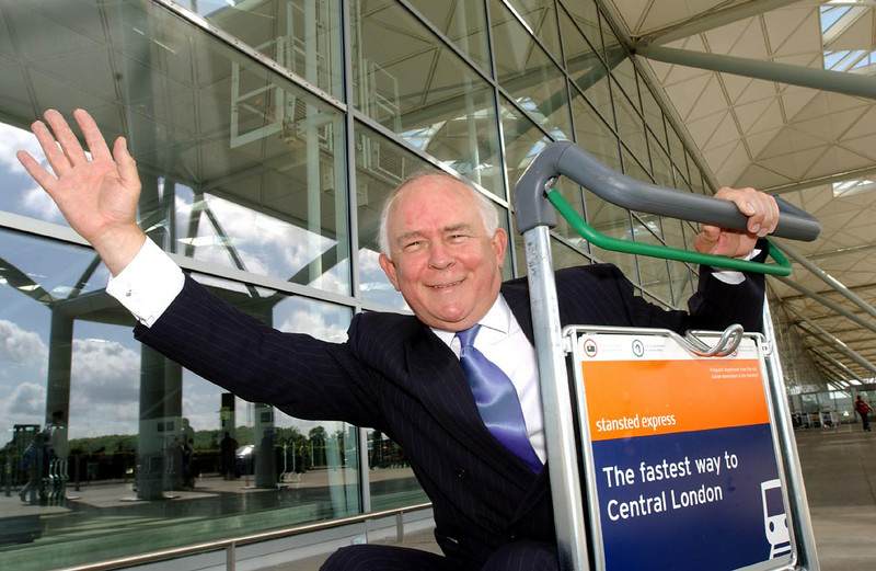 31.5.02  BAA ANNUAL RESULTS<br /> <br /> Mike Hodgkinson, chief executive of BAA plc, visits Stansted Airport's new £60m terminal extention. BAA will be investing £600m in the airport over the next eleven years to enable it to grow to around 25 million passengers.<br /> <br /> Picture by Jeff Jones<br /> <br /> Embargoed to 6th June 2002