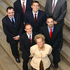 """Covered Warrants Take Off""<br /> Joining Clara Furse, Chief Executive of the London Stock Exchange are the first six issuers.<br /> Front row left to right<br /> Wolfgang Stefan, Dresdner Kleinwort Wasserstein;Gian Luigi Pedemonte, TradingLab;<br /> Back row left to right<br /> Henrik Takkenberg, Commerzbank Securities; Toby Peters, JP Morgan; Mark Valentine' Goldman Sachs International;Charles Annandale, SG.<br /> <br /> <br /> Picture by Jeff Jones"