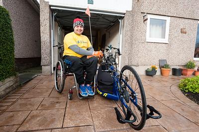 Disabled Mans Sponsored Cycle
