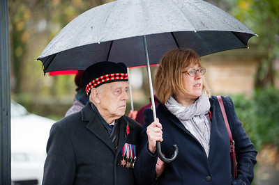 Remembrance parade in Clayton-Le_Moores, Accrington