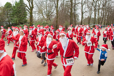Santa Dash at Corporation Park Blackburn