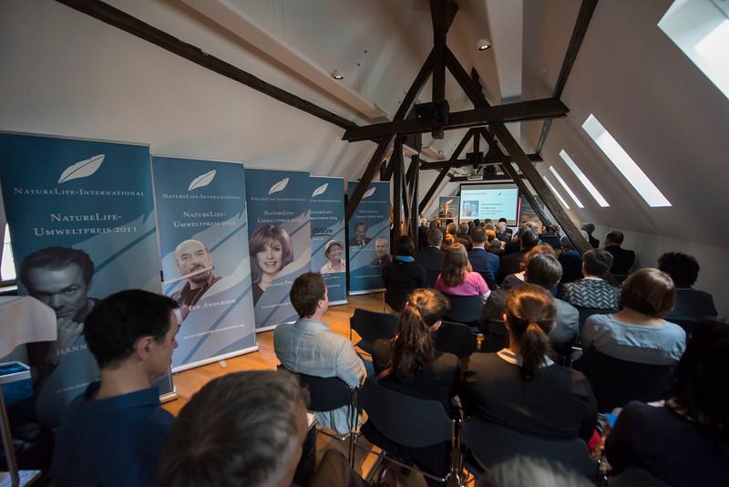 Christof Schenck giving a speech during the NatureLife-Umweltpreises 2016 ceremony. Palais Livingston, Frankfurt, Germany. © Daniel Rosengren