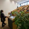 Prof. Dr. Meike Piepenbring a Mycologist at the university giving a presentation at Spring School in the Goethe University, Frankfurt, Germany. © Daniel Rosengren