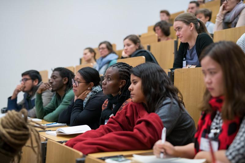 Spring School students at a lecture in the Goethe University, Frankfurt, Germany. © Daniel Rosengren