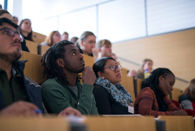 Spring School students at a lecture in the Goethe University, Frankfurt, Germany. © Daniel Rosengren