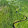 The Stokhid River in the Pripiat-Stokhid National Park in the Polesie area, Ukraine. Photo taken with a drone. © Daniel Rosengren
