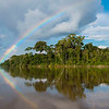 A rainbow over the rainforest along the Putumayo River, Peru, on the way to Yaguas. © Daniel Rosengren