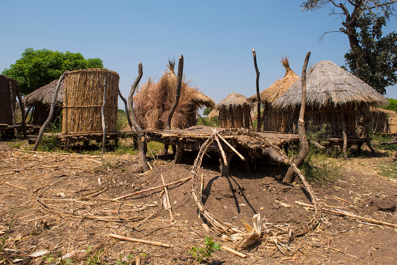 A village in the Nabwalya area where they had recent raids and destruction by elephants, Mpika. FZS is working to mitigate human wildlife conflicts around the North Luangwa National Park, Zambia. © Daniel Rosengren / FZS