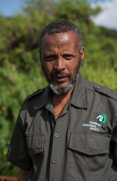 Hussein Adem, FZS Assistant Administration, Bale, Ethiopia. © Daniel Rosengren
