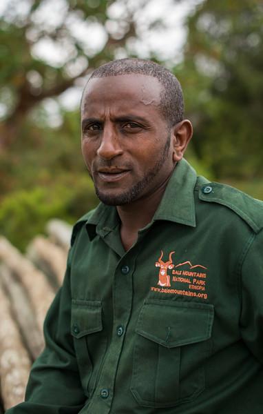 Bushirra Waree, FZS guard, Bale, Ethiopia. © Daniel Rosengren