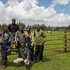 FZS team working on the horse fence in Bale, Ethiopia. © Daniel Rosengren