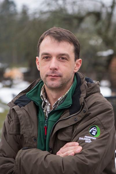 Project leader Viktar Fenchuk. Bialowieza National Park, Belarus. © Daniel Rosengren / FZS