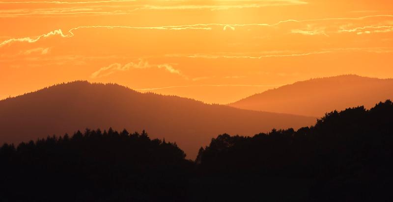 Sunset at the Bayerischer Wald NP, Germany. Daniel Rosengren / FZS
