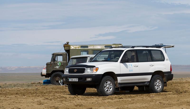 The FZS and ACBK team's campsite in the Irgiz-Turgai reserve, Central Kazakhstan. © Daniel Rosengren / FZS