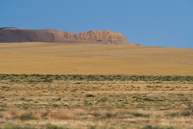 An escarpment on the steppe. Central Kazakhstan. © Daniel Rosengren / FZS