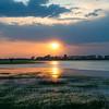 Sunset at the River Pripyat Floodplains. Turov area, Polesie, Belarus. © Daniel Rosengren