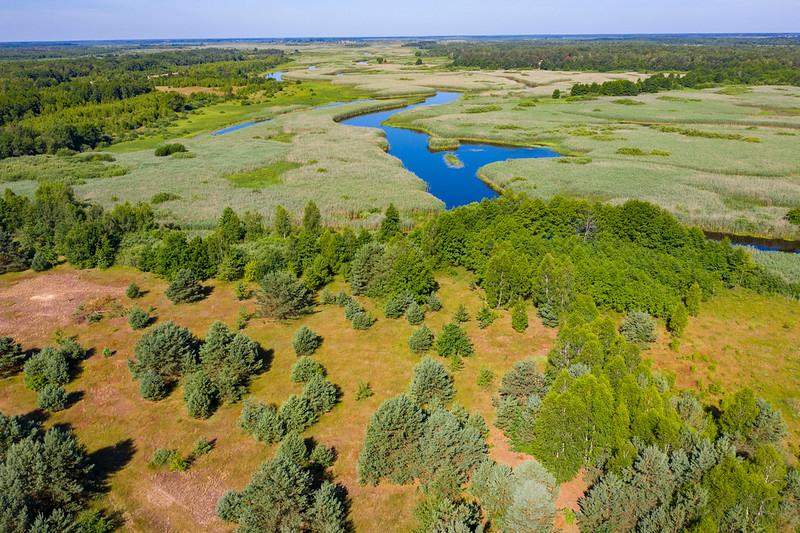 The river Pripyat in the Pripiat-Stokhid National Park in the Polesie area, Ukraine. © Daniel Rosengren / FZS