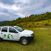 The project vehicle in Uzhanskiy National Nature Park, Ukraine. © Daniel Rosengren / FZS