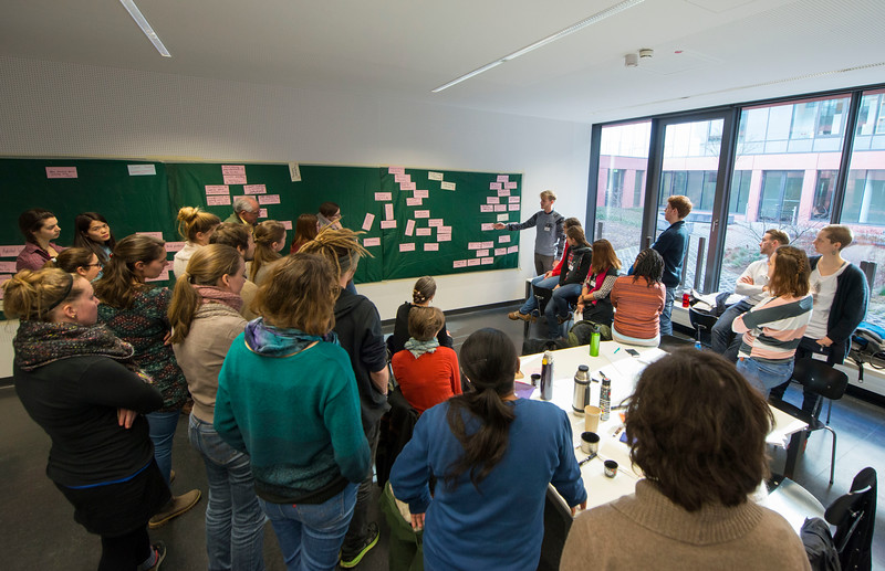 Spring School students participating in the logical framework for project planning training. Goethe University, Frankfurt, Germany. © Daniel Rosengren