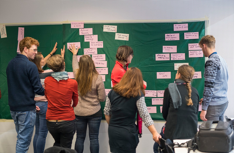 Spring School students participating in the logical framework for project planning training. Goethe University, Frankfurt, Germany. © Daniel Rosengren