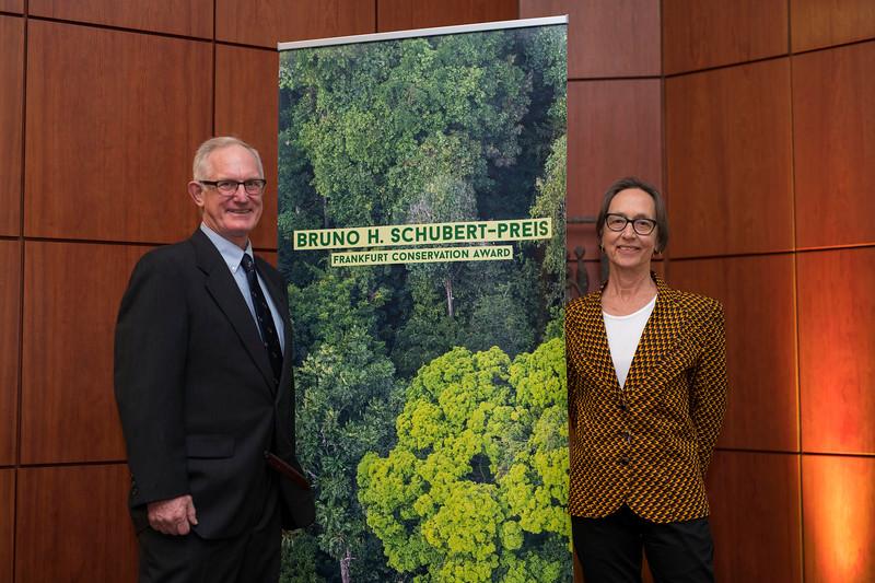 John and Terese Hart (Category 1 winners) at the Frankfurt Conservation Award (Schubert-Preis) ceremony. Frankfurter Sparkasse, Frankfurt, Germany. @ Daniel Rosengren