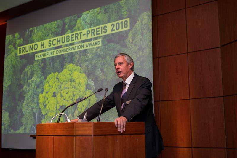 Dr. Altfried Lütkenhaus (Frankfurter Sparkasse) at the Frankfurt Conservation Award (Schubert-Preis) ceremony. Frankfurter Sparkasse, Frankfurt, Germany. @ Daniel Rosengren