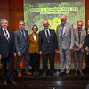 Winners and important people at at the Frankfurt Conservation Award (Schubert-Preis) ceremony. From left; Dr. Altfried Lütkenhaus (Frankfurter Sparkasse), Christof Schenck (Director - Frankfurt Zoological Society), Terese Hart (Category 1 winner), John Hart (Category 1 winner), Prof. Manfred Niekisch (Schubert Foundation board member), Ruben Khachatryan (Director of FPWC and Category 2 winner), Michael Kunkel (Category 2 winner), Gabriele Eick (Chairman of the Schubert Foundation board). Frankfurter Sparkasse, Frankfurt, Germany. @ Daniel Rosengren