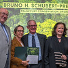 John and Terese Hart (Category 1 winners) at the Frankfurt Conservation Award (Schubert-Preis) ceremony. Frankfurter Sparkasse, Frankfurt, Germany. @ Daniel Rosengren
