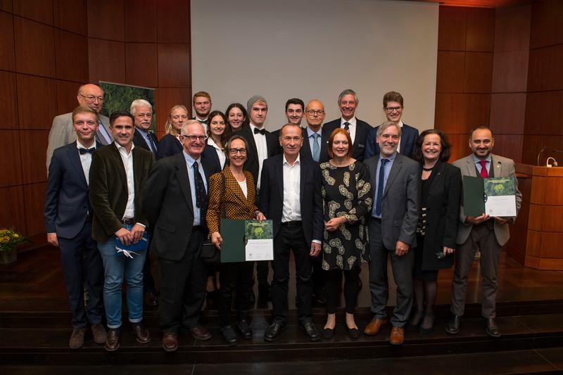 Winners and important people at at the Frankfurt Conservation Award (Schubert-Preis) ceremony. Frankfurter Sparkasse, Frankfurt, Germany. @ Daniel Rosengren