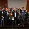 Winners and important people at at the Frankfurt Conservation Award (Schubert-Preis) ceremony. Frankfurter Sparkasse, Frankfurt, Germany. @ Daniel Rosengren
