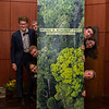 In no particular order; Benjamin Dorbert, Florian Gloger, Olivia Lassman, Nils Peiter, Sophia Helene Schmidt-Lossberg, Clemens Schumm (Green Grubs project group at the Goethe University and Category 3 winners) at the Frankfurt Conservation Award (Schubert-Preis) ceremony. Frankfurter Sparkasse, Frankfurt, Germany. @ Daniel Rosengren