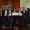 In no particular order; Benjamin Dorbert, Florian Gloger, Olivia Lassman, Nils Peiter, Sophia Helene Schmidt-Lossberg, Clemens Schumm (Green Grubs project group at the Goethe University and Category 3 winners) and to the left; Prof. Birgitta Wolff (Chairwoman of the Goethe University) and right; Gabriele Eick (Chairman of the Schubert Foundation board) and Prof. Manfred Niekisch (Schubert Foundation board member) at the Frankfurt Conservation Award (Schubert-Preis) ceremony. Frankfurter Sparkasse, Frankfurt, Germany. @ Daniel Rosengren