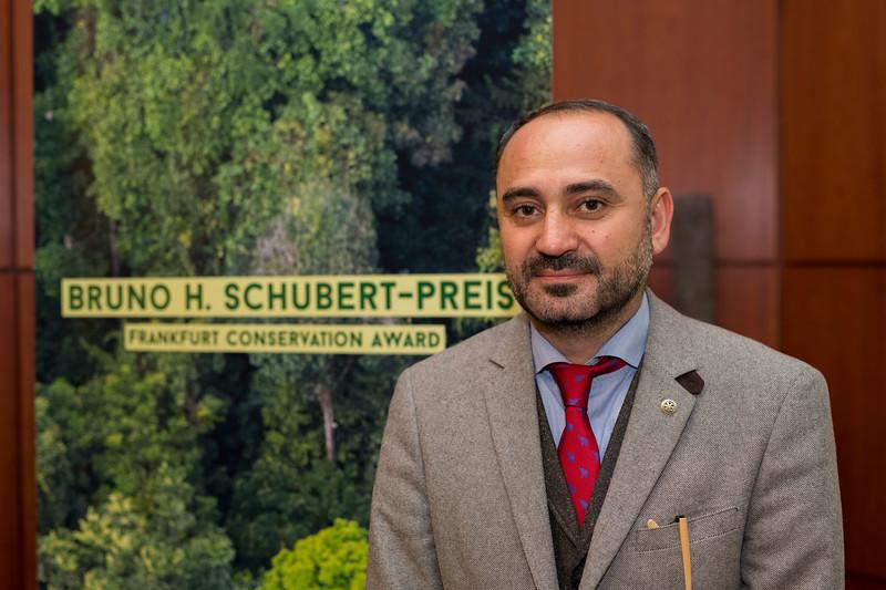 Ruben Khachatryan (Director of FPWC and Category 2 winner) at the Frankfurt Conservation Award (Schubert-Preis) ceremony. Frankfurter Sparkasse, Frankfurt, Germany. @ Daniel Rosengren